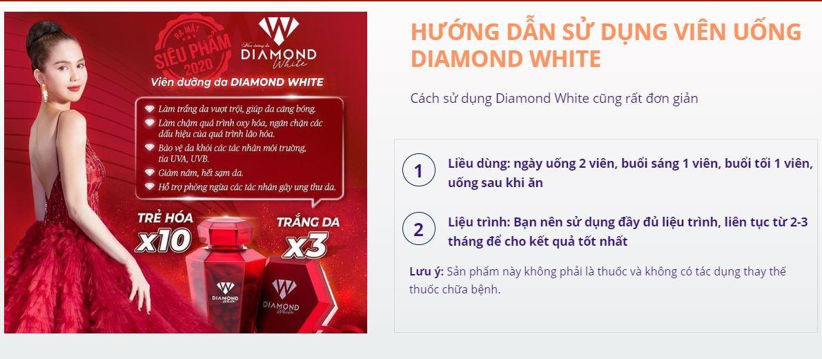 Hướng dẫn sử dụng Beauty Diamond White chính hãng